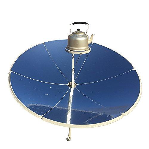 HUKOER Cocina Solar parabólica Portátil con Mayor eficiencia Estufa Solar Horno Solar Parrilla para Familiar (Diámetro de 1,5 m 1800 W)