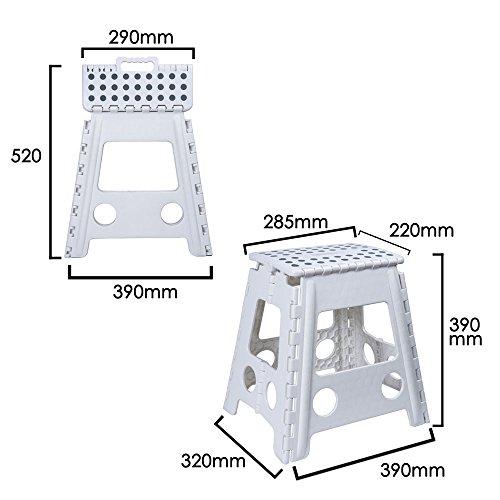 Color Blanco Escalera//Alzador 3 Escalones MSV 130002