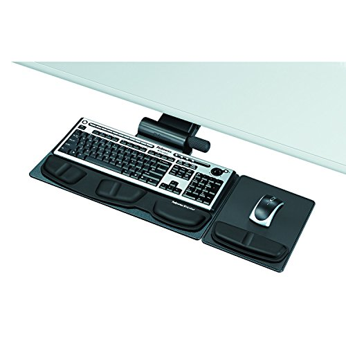 Fellowes 8036001 Professional Premier Series Adjustable Keyboard Tray, 19w x 10-5/8d, Black,GRAPHITE/SILVER