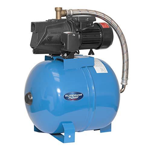 Superior Pump 94553 1/2 HP Cast Iron Shallow Well Jet Pump Kit, 1/2HP, Black