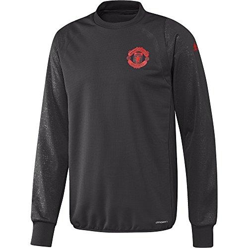 adidas MUFC EU TRG TOP–Sweatshirt Manchester United FC für Herren XS Negro (Neguti/Rojbri)