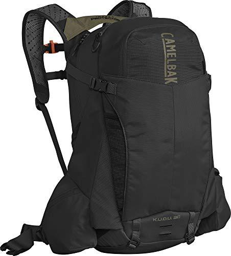 Camelbak K.U.D.U Trans Alp Protector 30 Grün-Schwarz, Fahrradrucksack, Größe M/L - Farbe Black - Burnt Olive