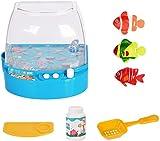 HNZNCY Natación Robot Fish con Acuario, Robotic Fish Toy Kids Fishing Toy, Juguetes de baño Natación Peces para Bañera