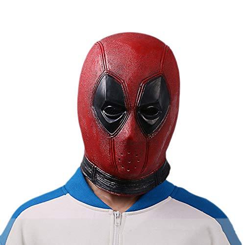 nihiug Dead Headgear Deadpool Mask Cosplay Mask Artículo De Halloween Película,Smalllatex-OneSize