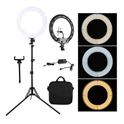 AOIWE Lampada da 18 Pollici Selfie Lampada per fotographia Lampada LED LED Light with Tripod Stand Staffa per Photo Studio/Youtube/Video per Makeup Vlog Fotografia