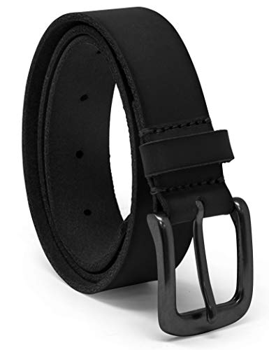 Timberland Boys' Big Leather Belt for Kids, black/classic, Medium