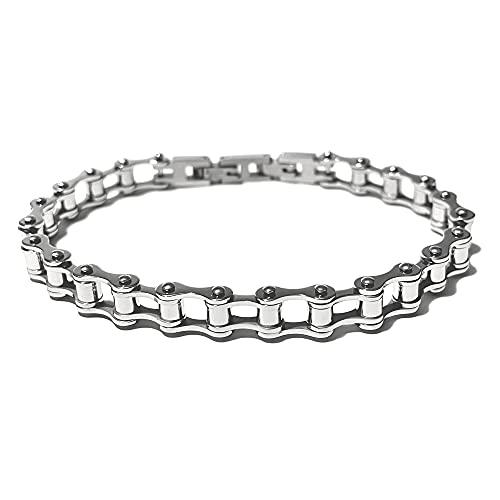 Pulsera de Acero y de Diamante de imitación Negro de Acero Inoxidable mm 5 cm de Largo, de 21 bcc0466
