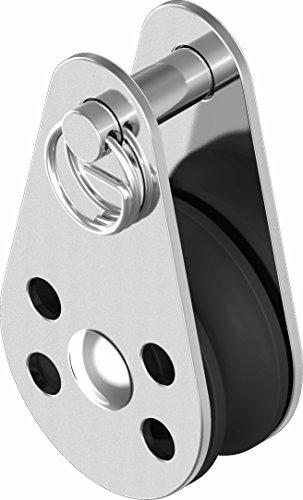 ARBO-INOX® - Block - Miniblock - Edelstahl - Gleitlager - 45mm - Nylonrolle - Sicherungsring