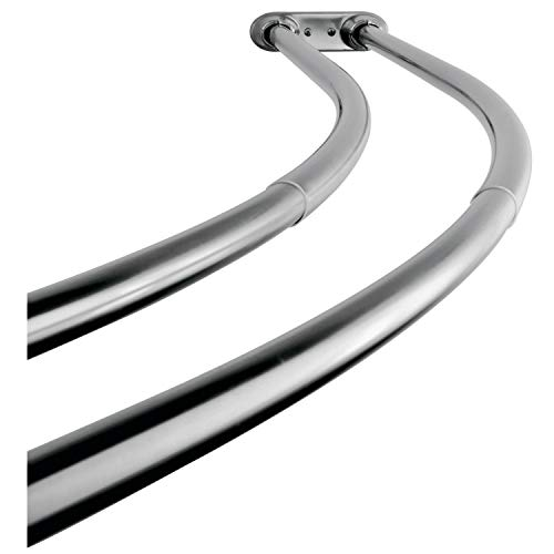 Kingston Brass CCD2171 Adjustable 60-Inch-72-Inch Double Curved Stainless Steel Shower Curtain Rod, Polished Chrome