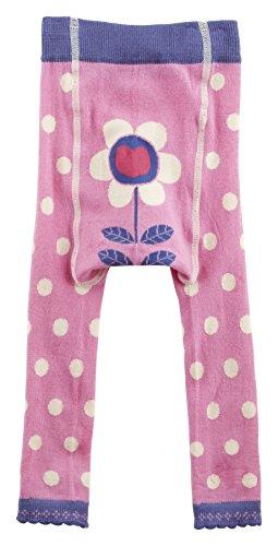Piccalilly Bio-Baumwolle Rosa Mädchen Gepunktete Fußlose Strumpfhose