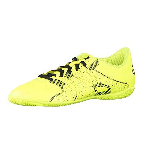 adidas Chaos X 15.4 In J Fußballschuhe, Yellow/Black, 28