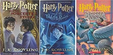 SET OF THREE COMPLETE NOVELS: by Author J.K. Rowling - / Harry Potter and the Sorcerer's Stone (Book 1) / Harry Potter and the Prisoner of Azkaban (Book 3) / Harry Potter and the Order of the Phoenix (Book 5) / - [HARDCOVER]