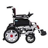 WaLizHb Smart Plegable Grande Ensanchado Obeso Silla De Ruedas Eléctrica De Mediana Edad Parapléjico Discapacitado Scooter De Seguridad De Cuatro Ruedas