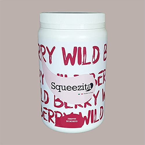 Lucgel Srl 2 kg Crema Spalmabile per Farcitura SQUEEZITA per Pasticceria Artigianale e Bar (Frutti di Bosco 35%)