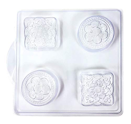 Soap Mold Tray - Plastic - 4 Celtic Shapes - Melt and Pour Soap Making…