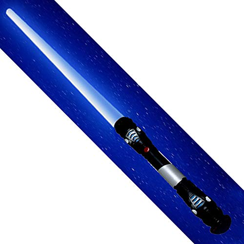tevenger XXL Lichtschwert Laserschwert zum Ausziehen 108cm blau mit Sound und Licht sowie Vibration TÜV SGS geprüft