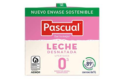 Pascual - Leche Desnatada Bienestar Animal, 6 x 1L