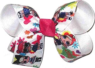 OV-2502L Large LOL Characters Double Layer Bow