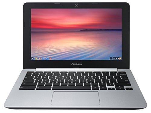 ASUS C200 Chromebook 11.6 Inch (Intel Celeron, 4 GB, 32GB SSD, Black/Silver)