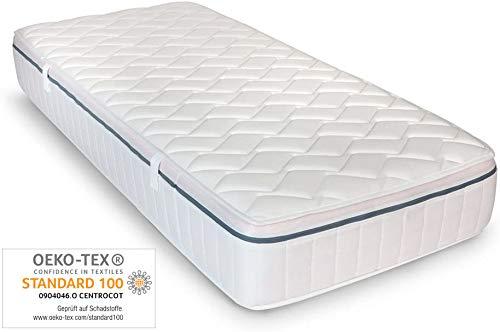 Ortho-Relax Matratze Breeze Airyform 19-90x200 cm - 19cm hoch - 7-Zonen Komfortschaumatratze - Atmungsaktiv - Rollmatratze Öko-Tex Zertifiziert - Frotteebezug - mit KB