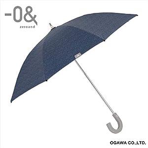 小川(Ogawa) ショートスライド晴雨兼用長傘 ミニパラソル 手開き 40cm 8本骨 -0& ゼロアンド デニム UVカット率&遮光率99%以上 遮熱加工 はっ水 52872