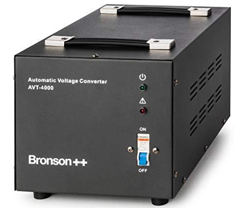 Bronson++ AVT 4000 - Transformador de 110/120 Voltios Convertidor de Voltaje EE.UU....