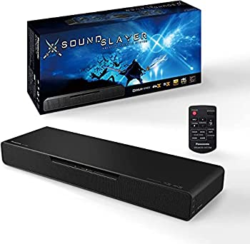 Panasonic SoundSlayer Gaming Soundbar Dolby Atmos Gaming Speakers for PC and Home Theater Built-in Subwoofer Designed with Final Fantasy XIV Online Team for Breakthrough Sound – SC-HTB01PP  Black