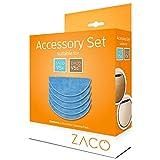 ZACO 501838 Juego de 5 paños Originales para Robot Aspirador V5sPro y V5x, Azul