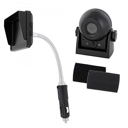Wohnmobil Funk Rückfahrsystem Digital und 3,5' Monitor 9V 12V 16V Rückfahrkamera mit Magnet und Batterie für Pferdeanhänger Trailer LKW Auto KFZ