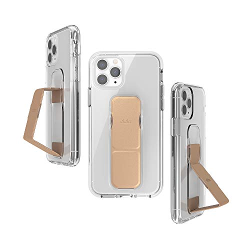 CLCKR iPhone 11 Pro ケース スタンド & グリップ 一体型 縦置き/横置き スリムデザイン(iPhone11 Pro クリア x ゴールド)