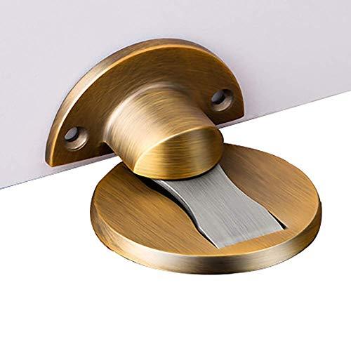 1yess Starker magnetischer Türstopper, unsichtbarer Saugnapf ohne Stanzen, Badezimmertür, Anti-Kollisions-Türstopper, Türstopper, Tür-Oberseite (Farbe: Schwarz, Größe: Zinklegierung)