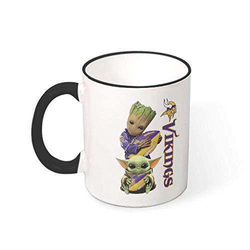 N\A Baby Groot Yoda Vikings Taza de café Diseño Personalizado Taza de café de cerámica Taza de Regalo Regalo para compañeros de Trabajo