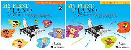 My First Piano Adventures, Level B Set (2 Books) - Lesson Book B with Online Audio, Writing Book B