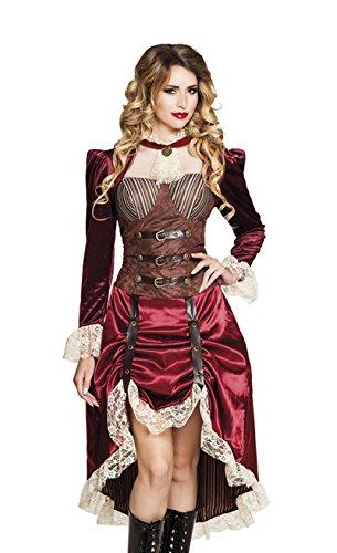 Boland 83647 - Erwachsenenkostüm Lady Steampunk, Damen, Retro, Future, Kleid mit Korsage, Spitze, Karneval, Halloween, Fasching, Mottoparty, Verkleidung, Theater