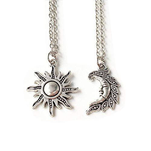 Sun and Moon Set,set of 2 ,Best Friends,sun and Moon Necklace Set,friendship, Wiccan,sun and Moon Jewelry