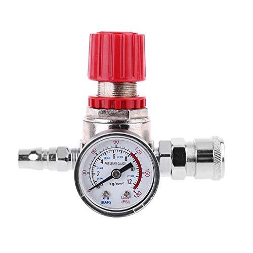 Manómetro de la válvula de control del interruptor del regulador de presión con el conector masculino/hembra para los accesorios de la bomba de aire del compresor de aire