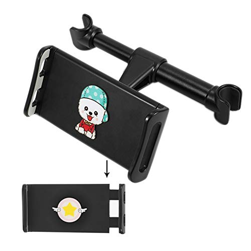 Tablet Holder Back Seat Stand Cradle, Car Tablet Headrest Mount Universal 360° Rotating Can Be Placed in The Middle for All 4.5~10.5' Tablets, Pad,F