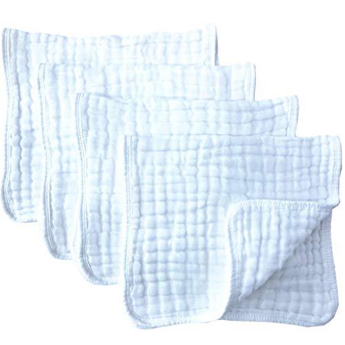 4 Toallitas de bidet infantiles Muselina Blanco puro MAS VENDIDO Cada mamá necesita uno de estos