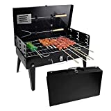 YX-ZD Portable Small Grill Folding <span class='highlight'>Charcoal</span> Barbecue Grill Mini Grill Outdoor Smoker Grill, for Outdoor Garden Picnics BBQ with Utensil Tools