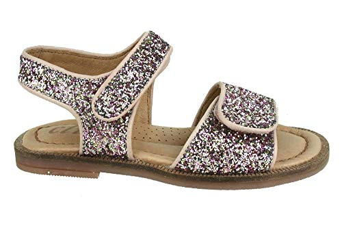 Clic! Rose Glitter Leder Sandale Schuhgröße 31
