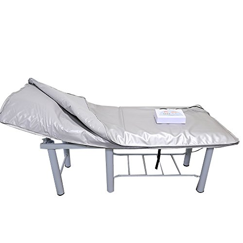 HUKOER Sauna Manta con Lanzamiento de Rayos Infrarrojos lejanos Conformación del Cuerpo/Desintoxicación/Antienvejecimiento/Más