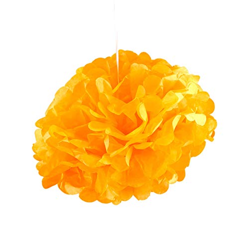 SKYLANTERN Pompons Orange 30cm x2