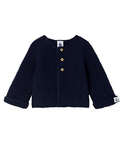 Petit Bateau Cardigan_4996405 Chaqueta Punto, Azul (Smoking 05), 95 (Talla del Fabricante: 12M/74centimeters) para Bebés