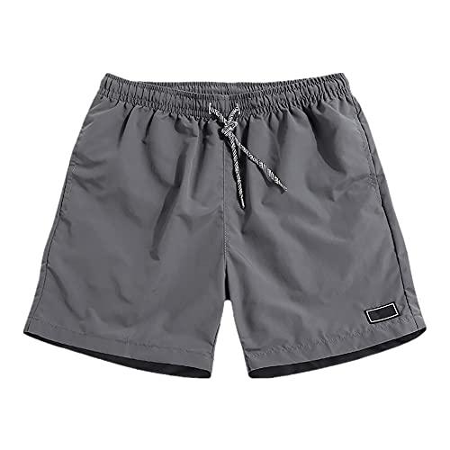 Pantalones de trabajo transpirables ocasionales de los hombres Banco de bolsillo Color sólido Pantalones cortos deportivos