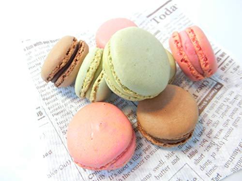 ベルギー産 マカロン 3種 (チョコレート、ストロベリー、ピスタチオ) 各12個×3P入りセット 冷凍・マカロン3種・