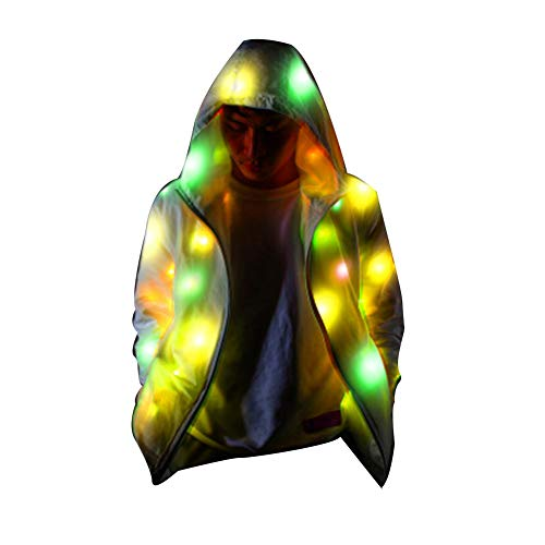 Liamostee M?nner vrouwen Glowing Party Kleding Indoor Outdoor Modieuze Flashing jas Mantel Sport Outwear