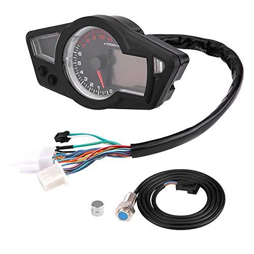 Compteur kilométrique LCD pour moto KIMISS Digital LCD 15000RPM avec capteur de vitesse, ajustement universel