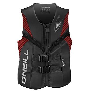 ,O'Neill Men's Reactor USCG Life Vest, Graphite/Red/Black,Large