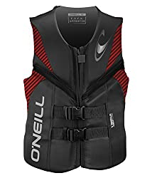 commercial O'Neill Wetsuits Men's Reactor Life Jacket USCG Graphite / Red / Black, Medium oneill wetsuit jacket