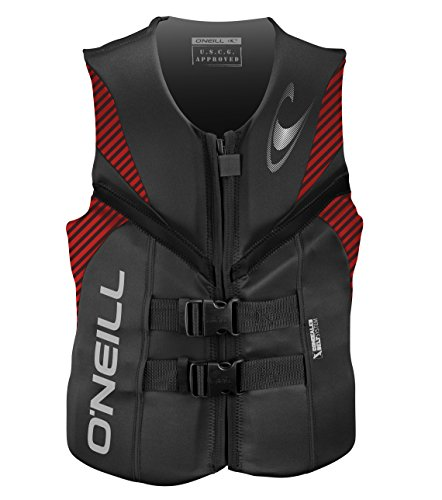 O'Neill   Men's Reactor USCG Life Vest,Graphite/Red/Black,X-Large